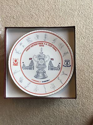 Fa Cup Final 1986 Paragon Plate