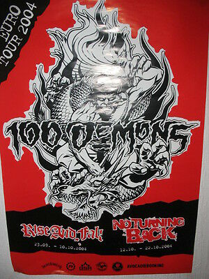 Poster 100 DEMONS ca DIN A2 rare madball hatebreed cold as life kickback sxe hc