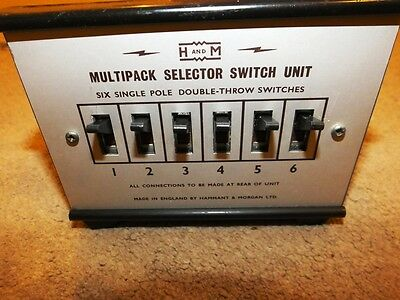 Hammant & Morgan Mulitipack Selector Unit.6 Single Pole Double Throw Switches