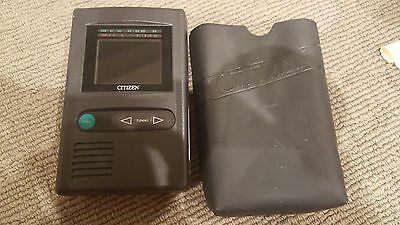 Citizen Retro Pocket Television Tv With Original Case - This Does Work