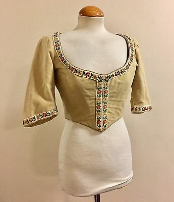 Antique Corset Laced Top Barber Glyndebourne Opera Size 8 Ca 1920s But 1800s Sty
