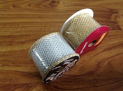 Decorative Ribbon- Gold And Silver Mesh - 2.7M