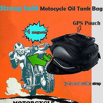 4 MAGNETIC Oil Fuel TANK BAG MOTORCYCLE LUGGAGE GPS  POCKET MOTORBIKE OZ seller