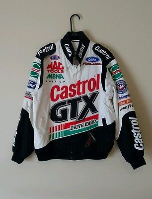 Vintage John Force Tony Pedregon Autographed Racing Jacket NHRA