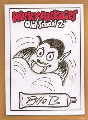 Wacky Packages Old School 2 - 2009 sketch card Scary Lee Bhob