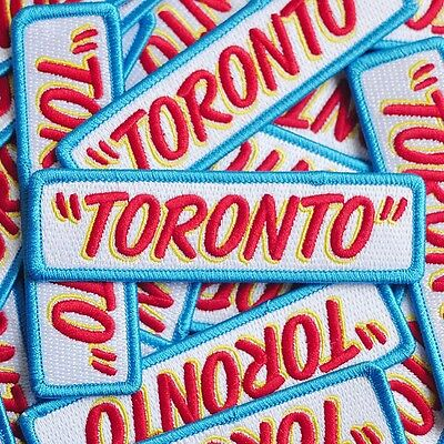 "Honest Ed's Style ""TORONTO"" Patch embroidered iron on"
