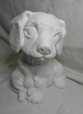 Ceramic Bisque Ready to Paint Cute Buffy the Dog