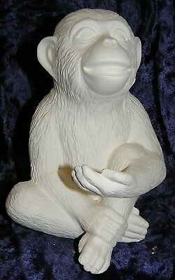 Ceramic Bisque Ready to Paint  Monkey with Hand out