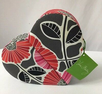 """VERA BRADLEY ✨ Heart To Heart Jewelry Case NWT """"Cheery Blossoms"""" Fabric MSRP $40"""