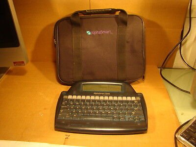 AlphaSmart 3000 Personal Portable Word Processor Keyboard USB Cable & New Batter