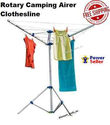 Camping Clothes Line Airer Air Dryer Clothesline Portable Rotary Design Hanger