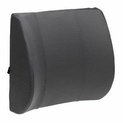 DLUX Seat Cushion Memory Foam Back Support with Straps, For Desk/Car, Black