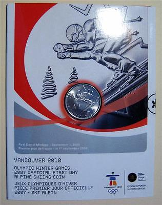 First Day Alpine Skiing 25 Cent Coin Nice Take a Look