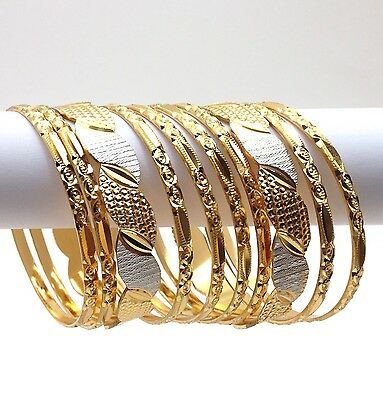Indian Cutting Bangles Size:2.6 Asian Bridal Jewellery Ethnic Wear Gold Plated