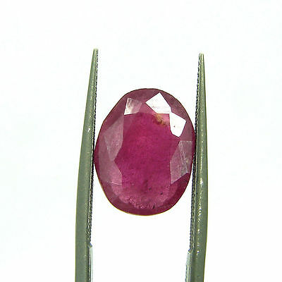 Certified Natural 5.15 Ct Red Ruby Loose Oval Gemstone Stone - 112087
