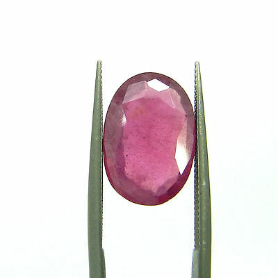 Certified Natural 4.51 Ct Red Ruby Loose Oval Gemstone Stone - 112090