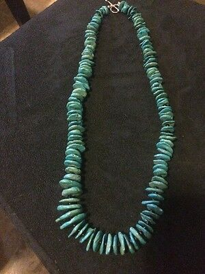 Native American Large Turquoise Necklace , Cherokee