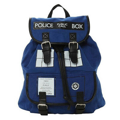 New Doctor Who Tardis Buckle Slouch Bag Purse Police Box Dr Who Backpack Gift