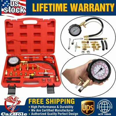 140PSI Fuel Injection Pump Pressure Injector Tester Test Pressure Gauge Kit+Case