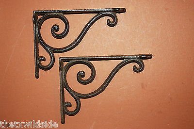 (2)Antique Look,corbel,shelf Brackets,baby Swirls,victorian Decor Home Decor,b-5