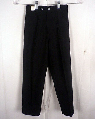 vtg 60s NOS NWT mint TRIOMPHE solid black TWILL FLAT FRONT PANTS 20 X 19