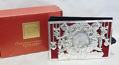 Lenox For the Holidays Silverplated Our Family Christmas Photo Album