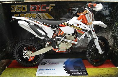 1:12 KTM 350 EXC-F - 6 Days Germany Saxony Bike Motorcycle Diecast model