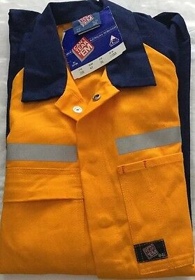 Mens Hi Vis Overalls  Size 84L With Reflective Tape