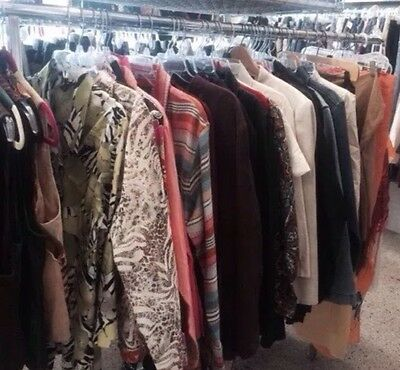 50PC Winter Women's Mixed Clothing Lot-Tops-Sweaters-Pants-Jeans-Jacket S-M-L-XL