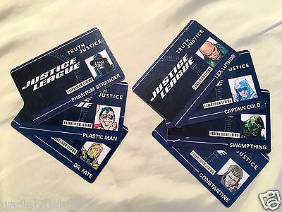 Heroclix DC Justice League ID Cards Con Exclusive Lot/Set of 7