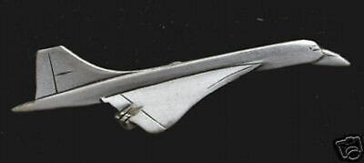 Concorde Aerospatiale Supersonic Transport Pewter Lapel Hat Tie Tac Pin Up Gift