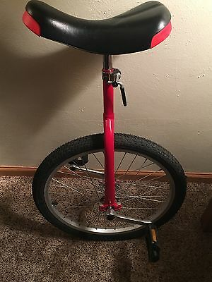 Red Unicycle W/ Adjustable Seat
