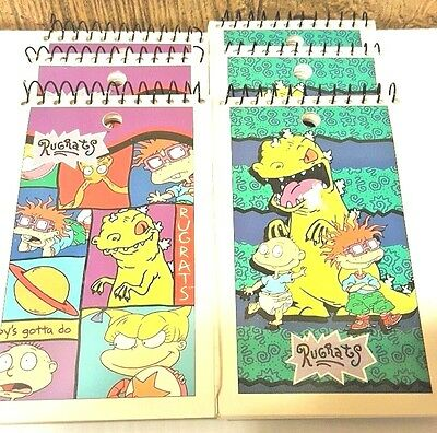 Lot of 6 Rugrats List  Paper Memo Note Pad Nickelodeon 1997 STOCKING STUFFER!