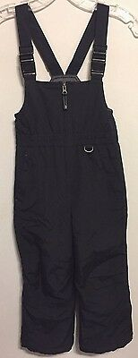 Lands End Kids Boys Girls Black Ski Snow Insulated Winter Overalls 6