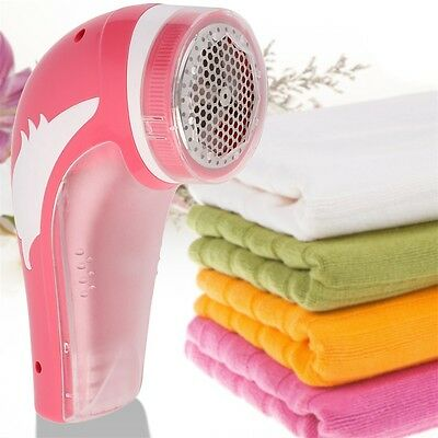 Red Rechargeable Electric Fabric Shaver Lint Fuzz Remover Household New OE
