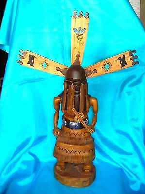 "21"" Tall Wooden Hand Carved-Apache Crown Dancer-Kachina Doll-Arden Key"