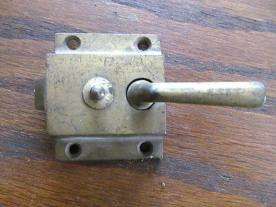 Antique Original 1899 Cast Iron Brass Screen Door Cabinet lock Latch  Vintage