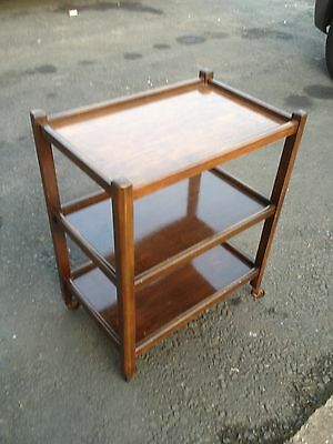 Immaculate Vintage Solid Oak 3 Tier Hostess Trolley On Wheels ~~ May Deliver