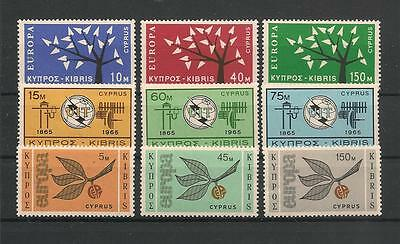 Cyprus 3 Scarcer Sets Mint Never Hinged