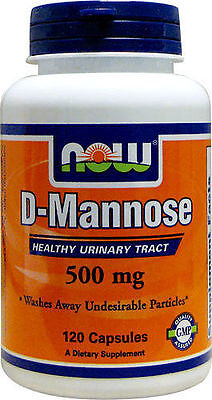 Now Foods D-MANNOSE 500 mg 120 Capsules Urinary tract D MANNOSE