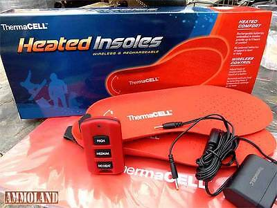 Therma Cell Heated Insoles Foot Warmer Rechargeable Remote Size:  ---LARGE----