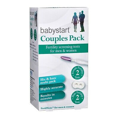 Babystart Couples Pack Female & Male Fertility Test 2 Tests