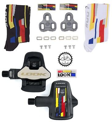 Look Keo Blade 2 30Th Anniversary Pack Carbon Chromo Pedals Road Pedali Strada