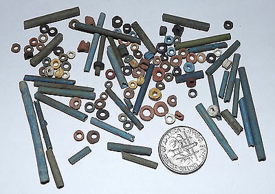More than a Hundred 2500 Year old Ancient Egyptian Faience Mummy Beads (#D8192)