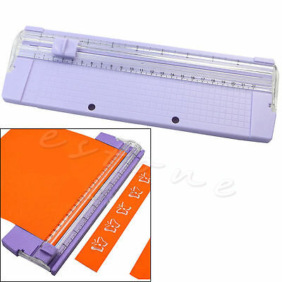 Portable A4 Precision Paper Card Trimmer Cutter Cutting Mat Blade Office Kit