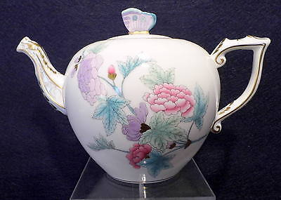 HEREND QUEEN VICTORIA ROYAL GARDEN TEAPOT,BUTTERFLY LID,30 fl OZ,BRAND NEW BOXED