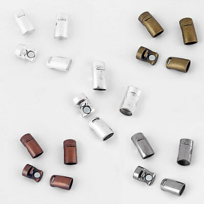 Antique Silver/Bronze/Copper 10.8x7mm Oval Magnetic Clasp For Licorice Leather