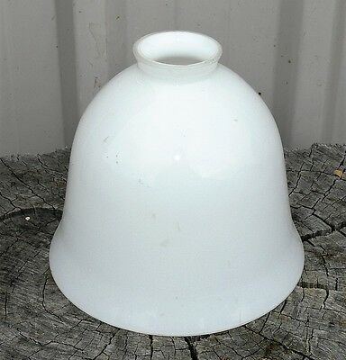 Vintage white glass lamp shade, clean with no chips, bell shaped.