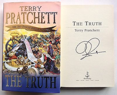 The Truth Terry Pratchett Signed First Edition Hardback Book Discworld Novel