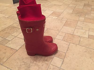 Red Hunter Wellies Child's Size 8